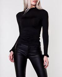 Ceena Frill Top Black