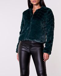 Evan Short Fake Fur Jacket Ponderosa Pine