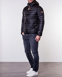 Core Down Hooded Jacket Black