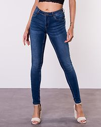 Jen Shaper Jeans Medium Blue Denim