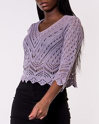 New Sun 3/4 Cropped Pullover Lavender Gray