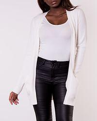 Ril Open Knit Cardigan White Alyssum