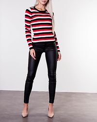 Nathalie O-Neck Knit Black/Red