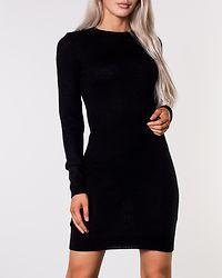 Grungy Knit Dress Black