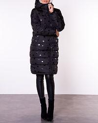 Bee Long Padded Jacket Black/Glossy Dot