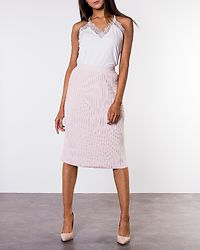 Plissani Long Knit Skirt Peach Blush