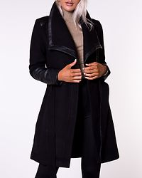 Elly Mix Wool Coat Black