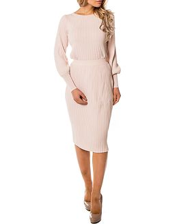 Plissani Long Knit Skirt Peach Blush