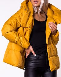 June Quilted Jacket Golden Yellow