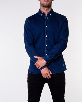 George Shirt Stretch Dark Blue Denim/Super Slim