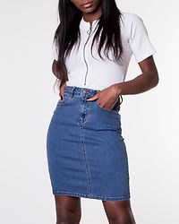 Hot Nine Pencil Skirt Medium Blue Denim