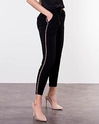 Eva Loose String Piping Pants Black/Misty Rose