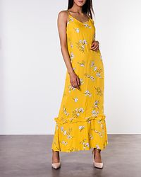 Kenya Maxi Strap Dress Lemon/Cloud Dancer