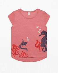 T-Shirt Sea Heather Coral