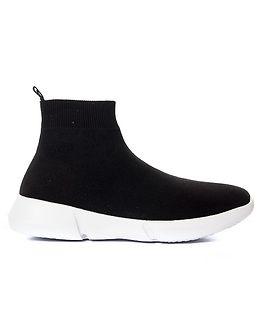 Knit Sneaker High Black