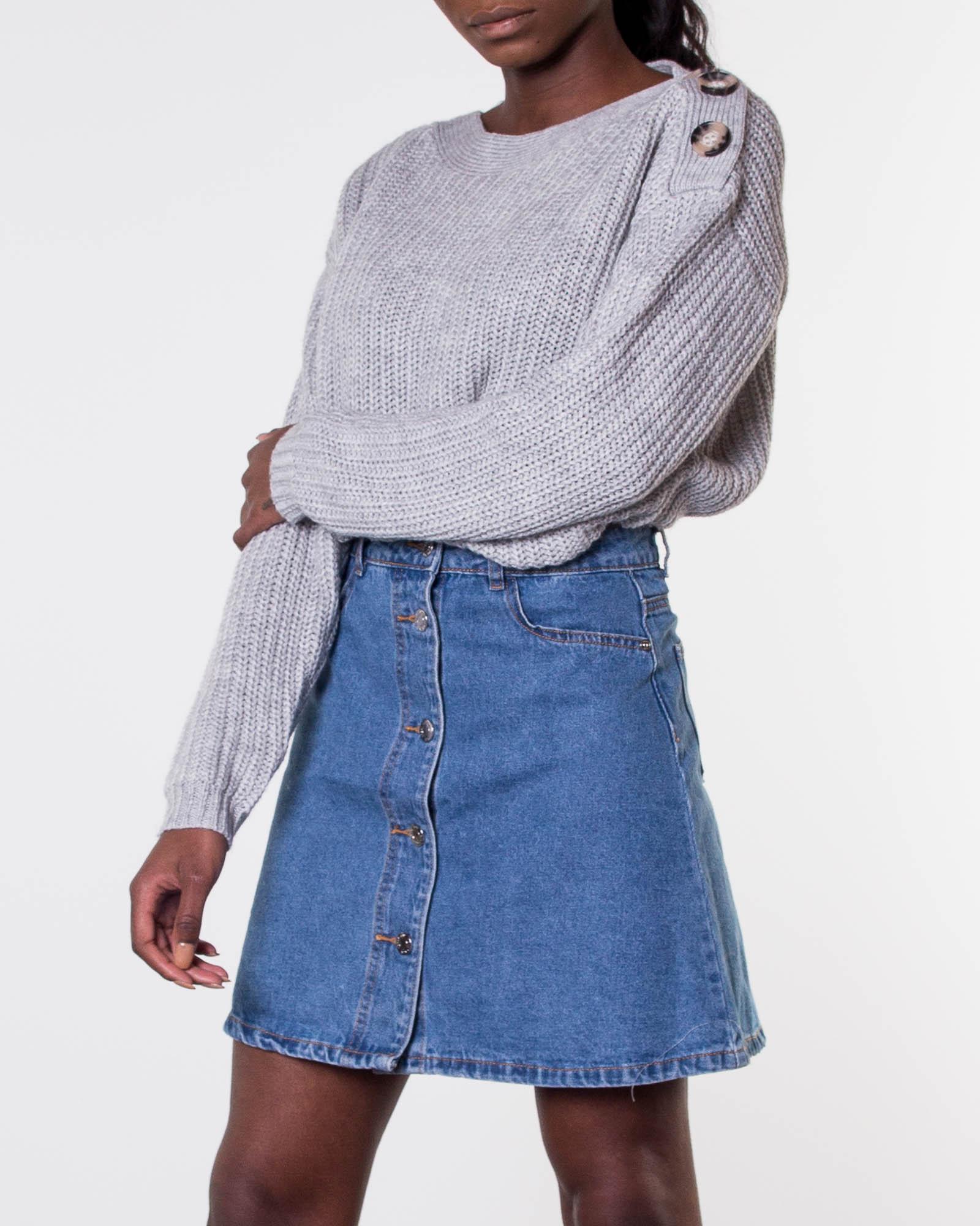 125c53fc05a676 Noisy may, Sunny Short Skater Skirt Medium Blue Denim | Women's Skirts |  HOUSEOFBRANDON.COM