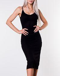 Ella Rib Dress Black