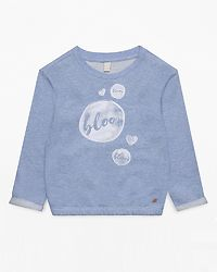Sweatshirt Heart Light Heather Blue
