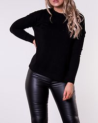 Chou Karis O-Neck Button Blouse Black