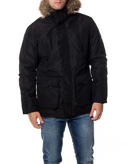 Hollow Parka Jacket Black