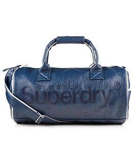 Athletic Barrel Bag Navy/White