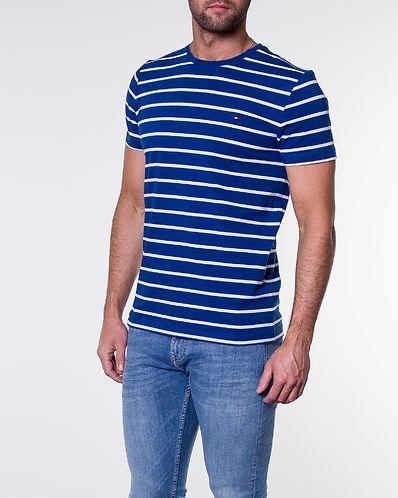 Stretch Slim Fit Tee Blue Quartz Bright White 766502e0aa