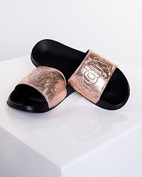 Pool Slide Black/Rose Gold Camo