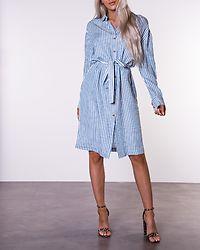 Suka Shirt Dress White Alyssum/Ashley Blue
