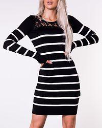 Lacole Lace Dress Black/Snow White