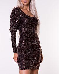 Sequin Dress Bronze Lurex