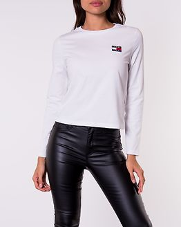 Tommy Badge Longsleeve Classic White