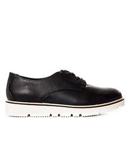 Laced Up Shoe Black