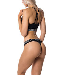Thong Unlined Black