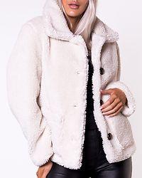 Button Teddy Jacket Off White