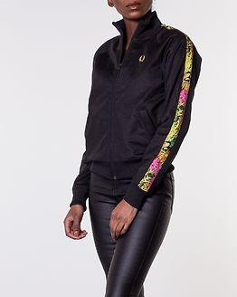 Liberty Print Sports Track Jacket Black