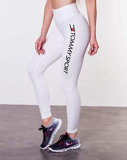 Highwaist Legging Logo White