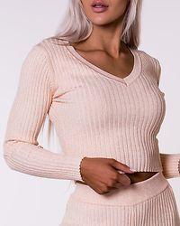 Ribbed Knit Light Peach