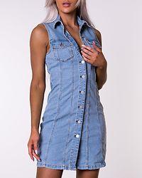 Sanna Life Button Dress Light Blue Denim