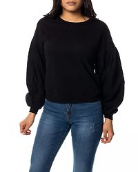 Absolute Balloon Sleeve Sweat Black