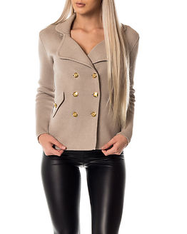 Chiara Heavy Knit Blazer Grey Beige