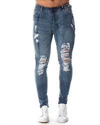 Kai Ripped Jeans Mid Blue