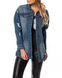 Mangie Denim Jacket Medium Blue Denim
