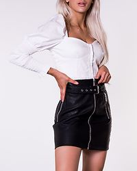 Long Sleeve Puff Top White