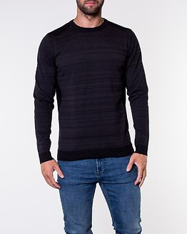 Elm Knit Crew Neck Black/Twisted