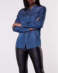 Bista Denim Shirt Dark Blue Denim Clean