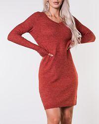 Vikka Knit V-Neck Dress Ketchup/Melange