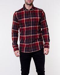 Regcarter Shirt Check Rum Raisin/Red