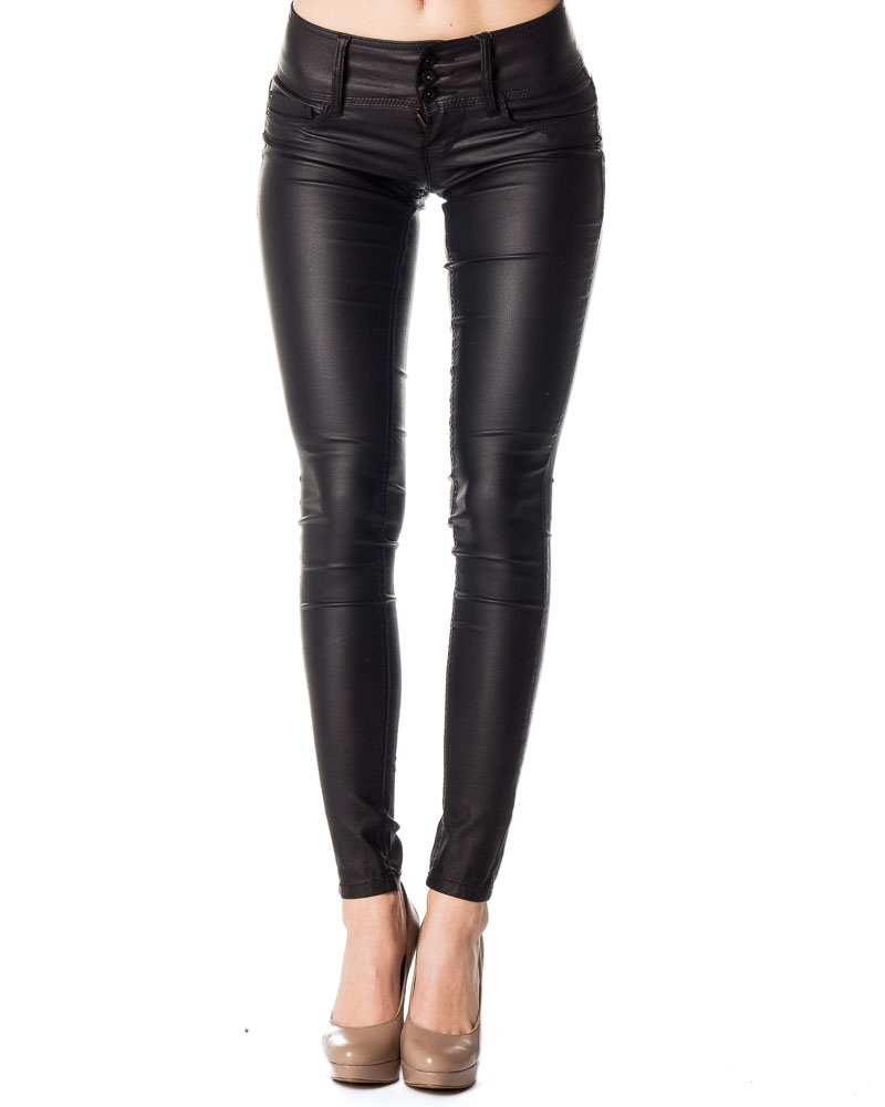 Anemone Low Coated Pant Black