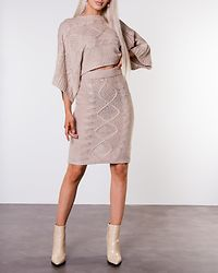 Rania Knitted Sweater Beige