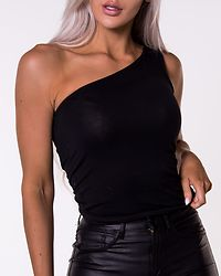 Kerry One Shoulder Top Black